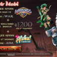 Get 10 Free Spins at Signup  + 100% Welcome Bonus up to €/£/$ 200  + 20 Free Spins at 2nd Deposit  Register at Mr Mobi casino by using Promo-code: WAR to get 10 […]